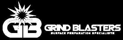 Grinblasters logo white